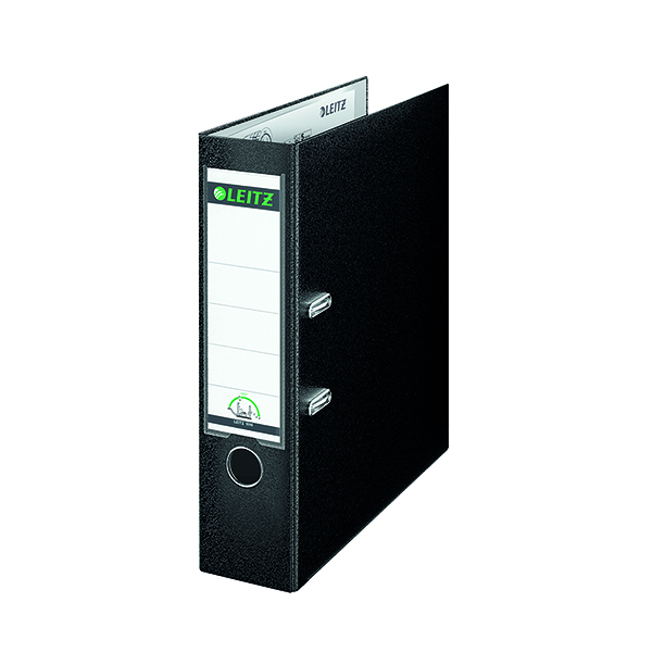 Leitz 180 Lever Arch File Poly 80mm A4 Black (Pack of 10) 10101095