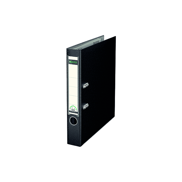 Leitz 180 Lever Arch File Poly 52mm A4 Black (Pack of 10) 10151095