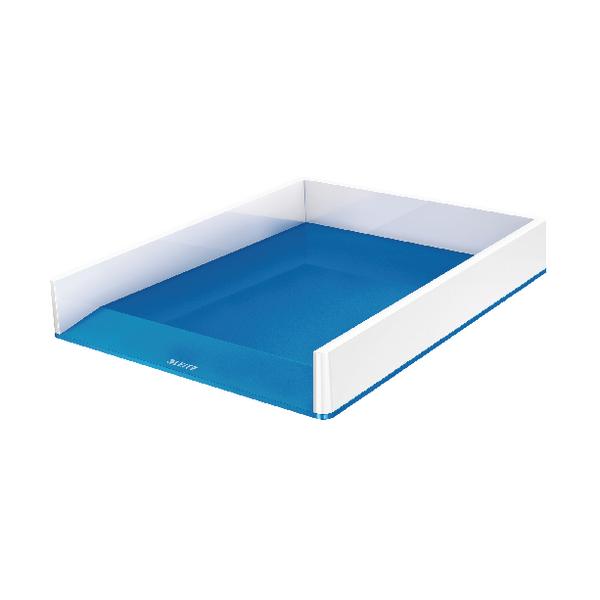 Leitz WOW Letter Tray Dual Colour White/Blue 53611036