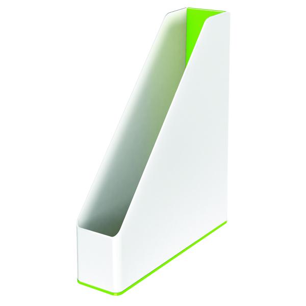 Leitz WOW Magazine File Dual Colour White/Green 53621054