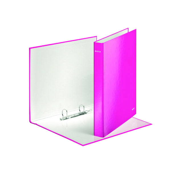 Leitz Wow 2 D-Ring Binder 25mm A4 Plus Pink (Pack of 10) 42410023