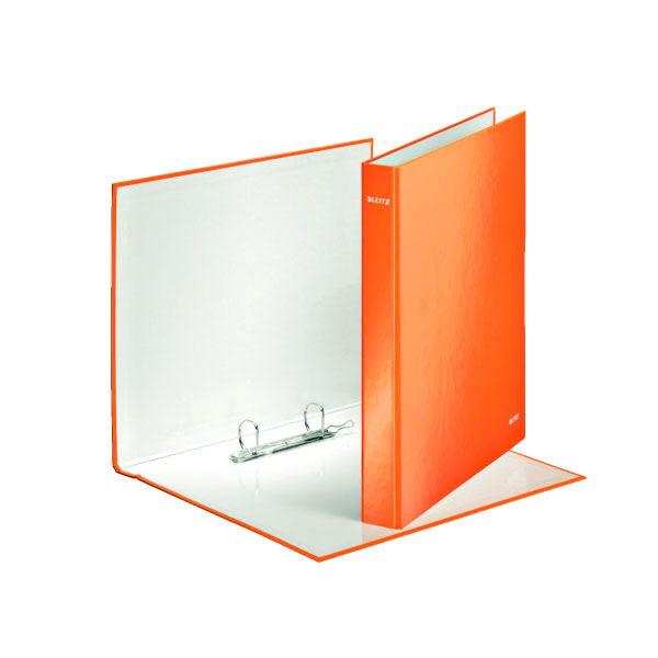 Leitz Wow 2 D-Ring Binder 25mm A4 Plus Orange (Pack of 10) 42410044
