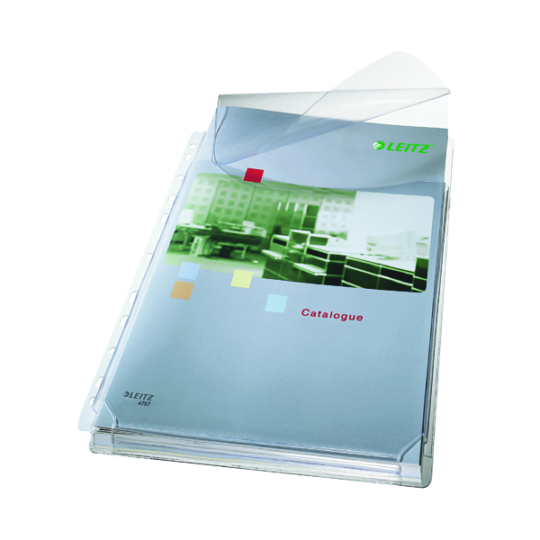 Image for Leitz Expanding Pocket With Flap A4 Clear (Pack of 5) 47573003