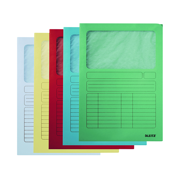Leitz Window Folder A4 160gsm Assorted Pack Of 100 3950-00-99