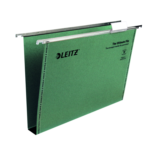 Leitz Ultimate Suspension File Foolscap Green (Pack of 50) 17450055