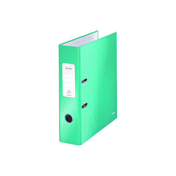 Leitz Wow 180 Lever Arch File 80mm A4 Ice Blue (Pack of 10) 10050051