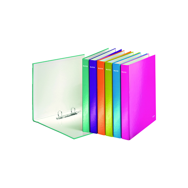Leitz WOW 2 D-Ring Binder A4 Plus 25mm Ice Blue (Pack of 10) 42410051