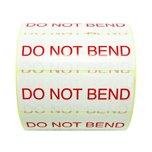 Do Not Bend Thermal Transfer Labels 101mm x 36mm 1000 Per Roll