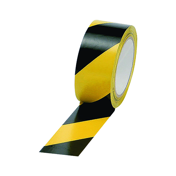 Vinyl Tape Hazard Yellow/Black 50mmx33m (Pack of 6) PVC-50-33-HAZYB