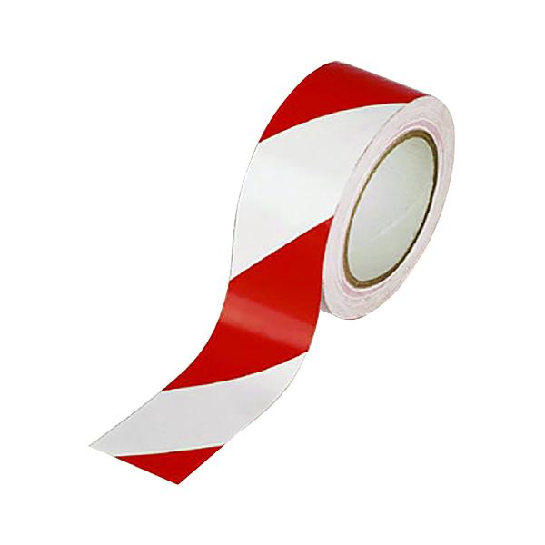 Vinyl Tape Hazard White/Red 50mmx33m (Pack of 6) PVC-50-22-HAZWR