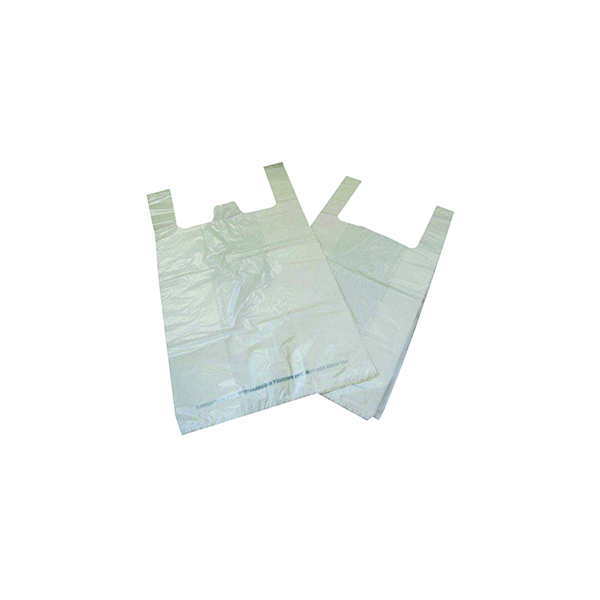 Carrier Bag Biodegradable White (Pack of 1000)