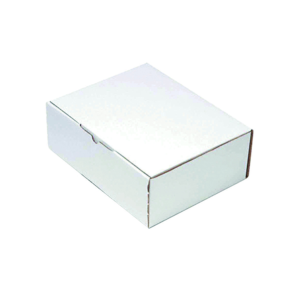Mailing Box 260x175x100mm White (Pack of 25) PPAK-KING09-D