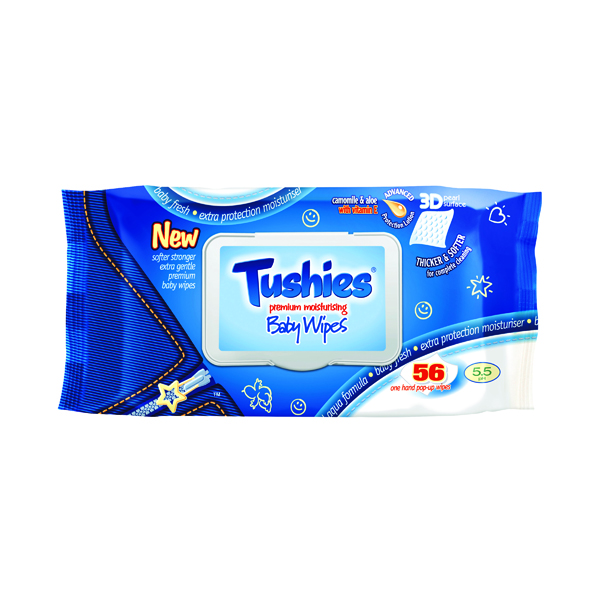 Tushies Baby Wipes (Pack of 12) BWTP56