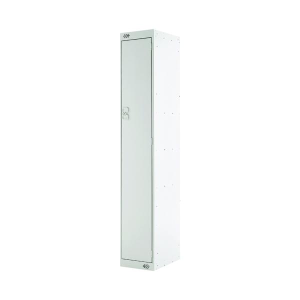Single Compartment Locker 300x300x1800mm Light Grey Door