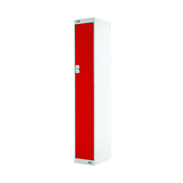 Single Compartment Locker D300mm Red Door (Dimensions: H1800 x D300 x W300mm)