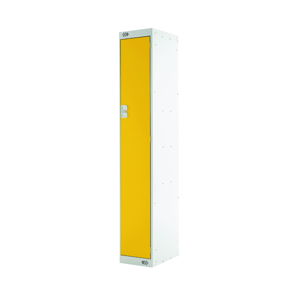 Single Compartment Locker D300mm Yellow Door
