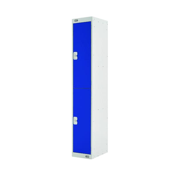 Two Compartment Locker D300mm Blue Door