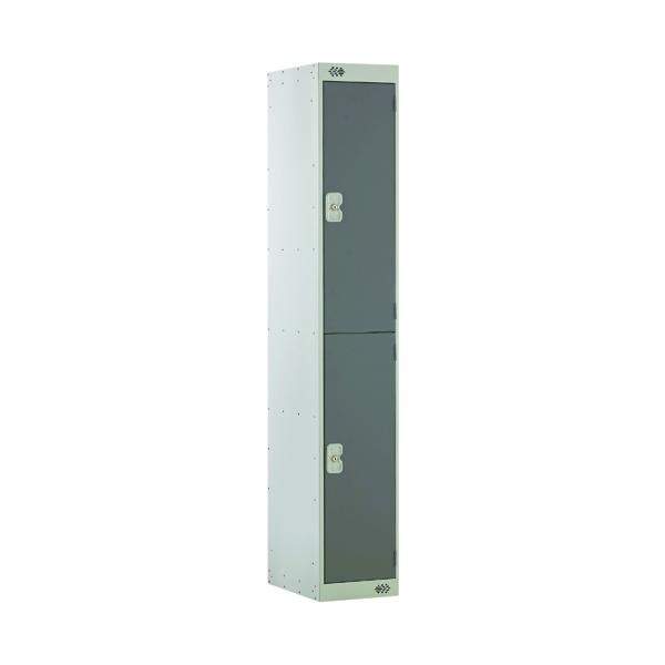 Two Compartment Locker D300mm Dark Grey Door