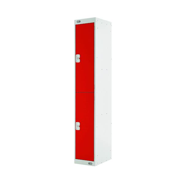 Two Compartment Locker D300mm Red Door