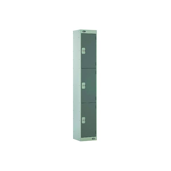 Three Compartment Locker D300mm Dark Grey Door