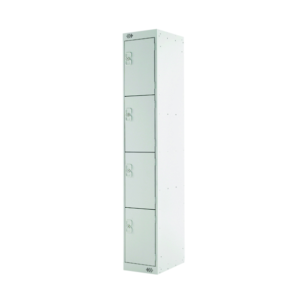 Four Compartment Locker D300mm Light Grey Door