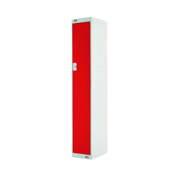 Single Compartment Locker D450mm Red Door (Dimensions: H1800 x W300 x D450mm)