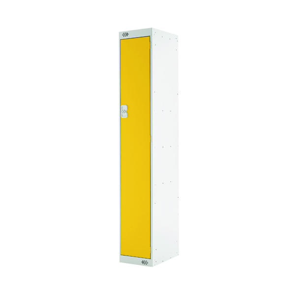 Single Compartment Locker D450mm Yellow Door MC00042