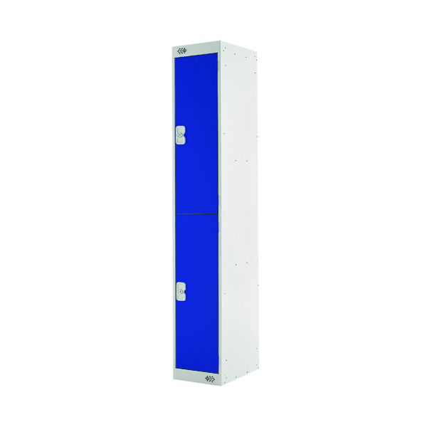 Two Compartment Locker D450mm Blue Door