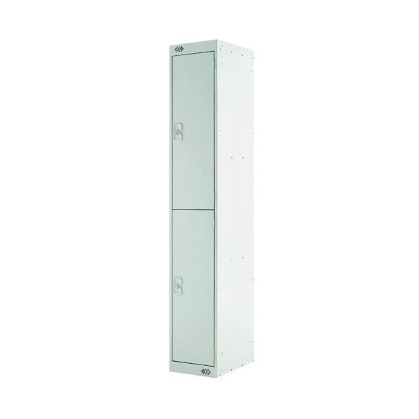 Two Compartment Locker D450mm Light Grey Door MC00044
