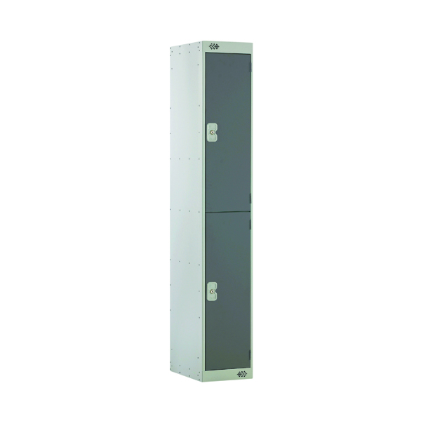 Two Compartment Locker D450mm Dark Grey Door