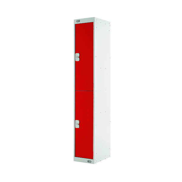 Two Compartment Locker D450mm Red Door