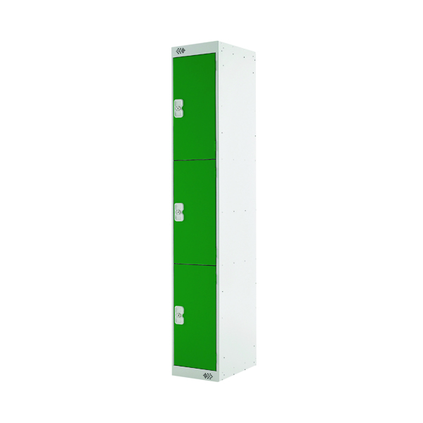 Three Compartment Locker D450mm Green Door MC00052