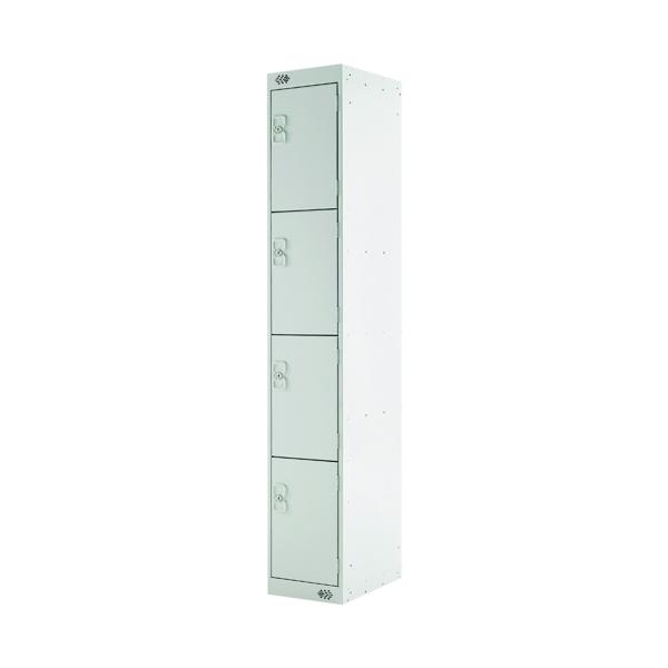 Four Compartment Locker D450mm Light Grey Door
