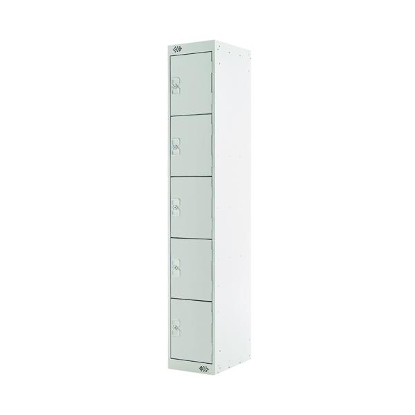 Five Compartment Locker D450mm Light Grey Door