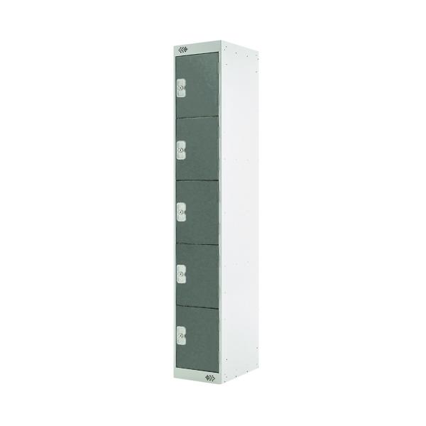 Five Compartment Locker D450mm Dark Grey Door