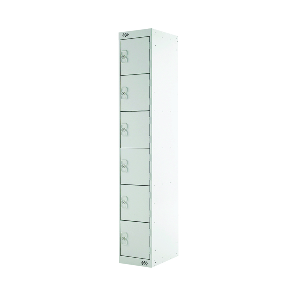Six Compartment Locker D450mm Light Grey Door