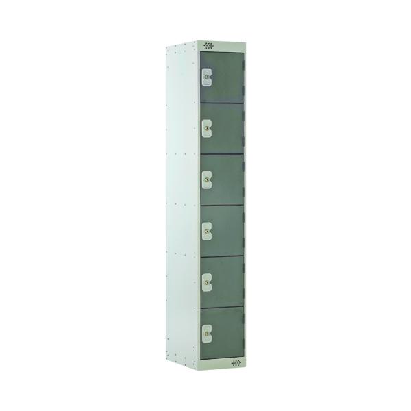 Six Compartment Locker D450mm Dark Grey Door