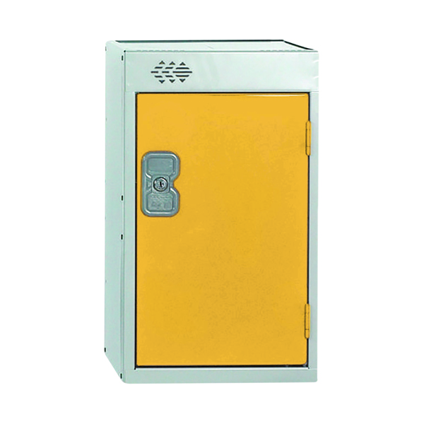 One Compartment Quarto Locker D300mm Yellow Door