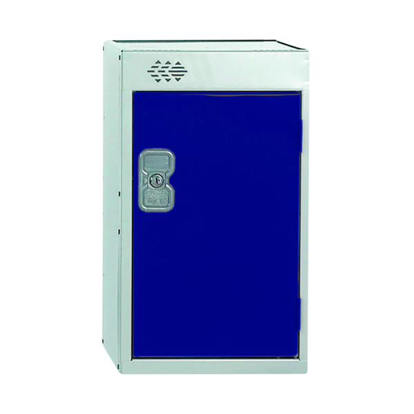 One Compartment Quarto Locker D450mm Blue Door