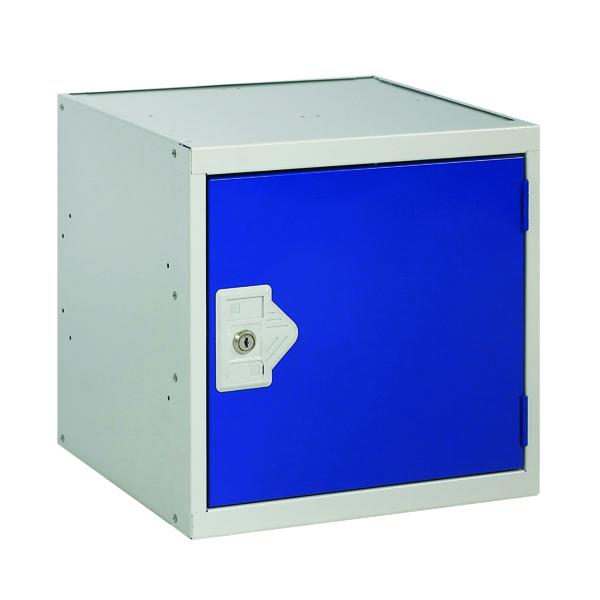 One Compartment Cube Locker D300mm Blue Door