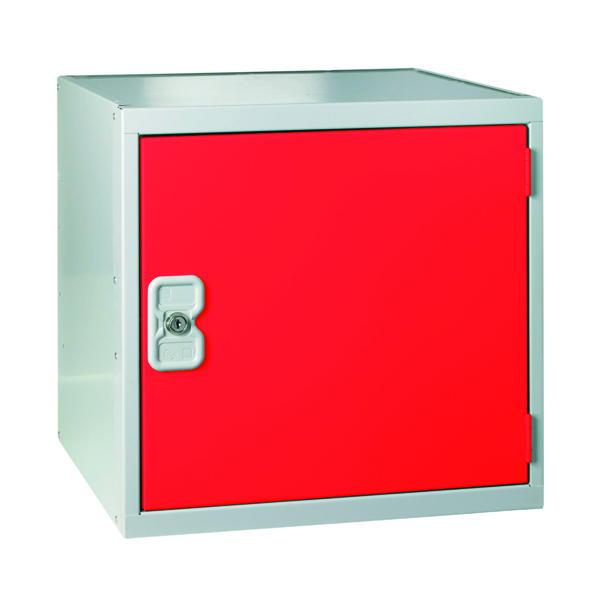 Image for One Compartment Cube Locker D300mm Red Door MC00089