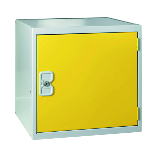Image for One Compartment Cube Locker D300mm Yellow Door MC00090