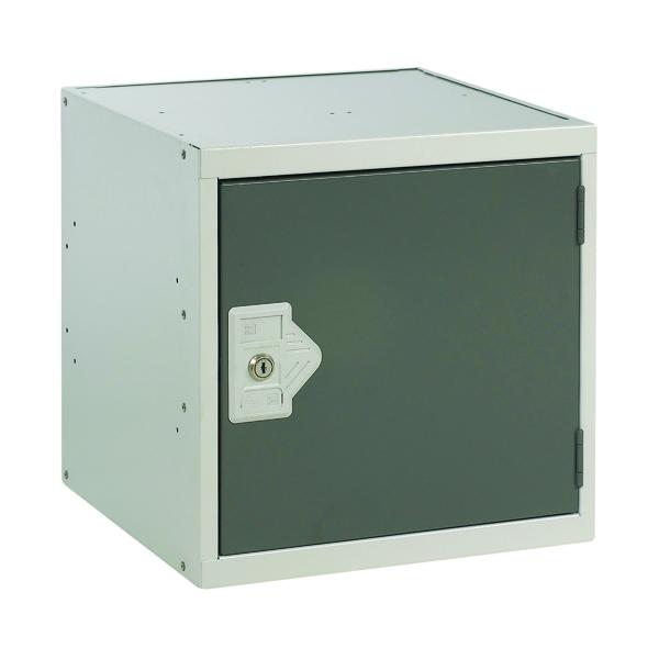 One Compartment Cube Locker D450mm Dark Grey Door