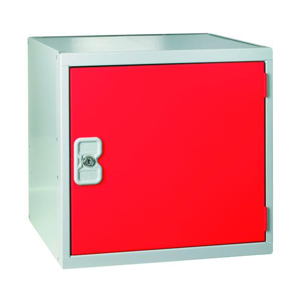 One Compartment Cube Locker D450mm Red Door