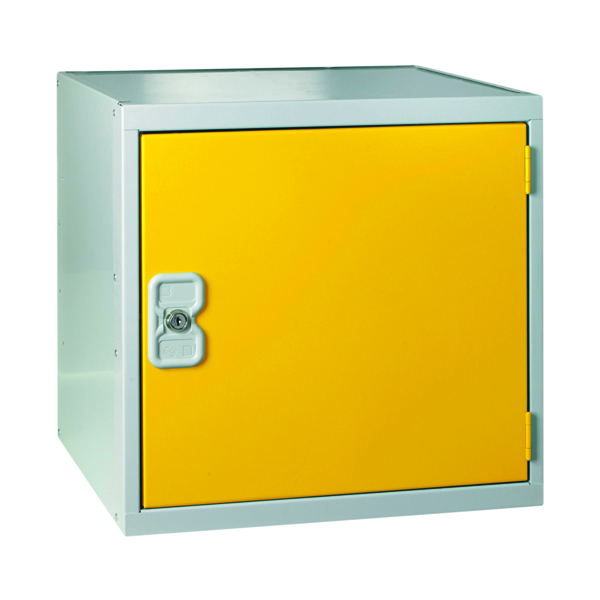 Image for One Compartment Cube Locker D450mm Yellow Door MC00102