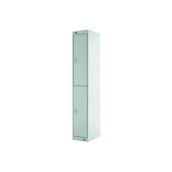 Two Compartment Express Standard Locker D450mm Light Grey Door MC00155