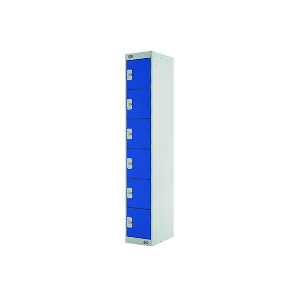 Six Compartment Express Standard Locker D450mm Blue Door