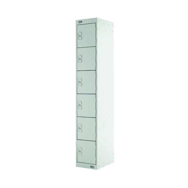 Six Compartment Express Standard Locker D450mm Light Grey Door