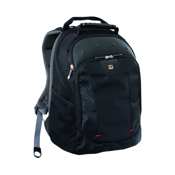Gino Ferrari Juno 16 inch Laptop Backpack Black GF501