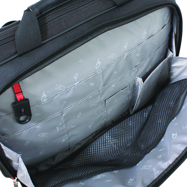 Gino Ferrari Helios Business Bag 16in Black (Features padded compartment for 16 inch laptops) GF542
